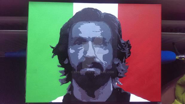 Andrea Pirlo multilayer stencil