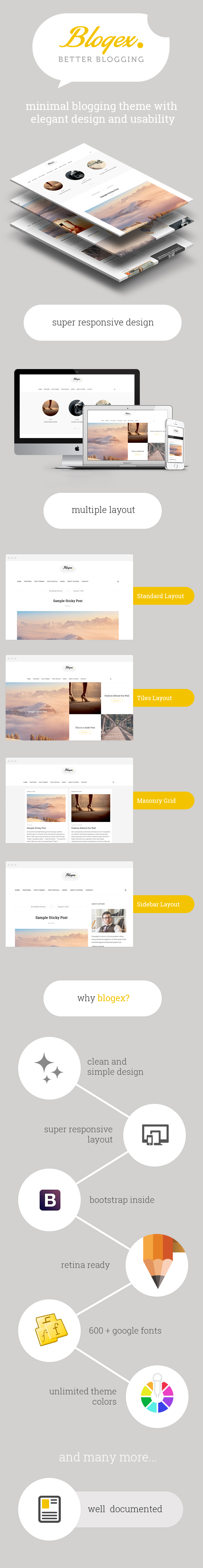 Blogex - Minimal HTML Responsive Blog Theme - 2
