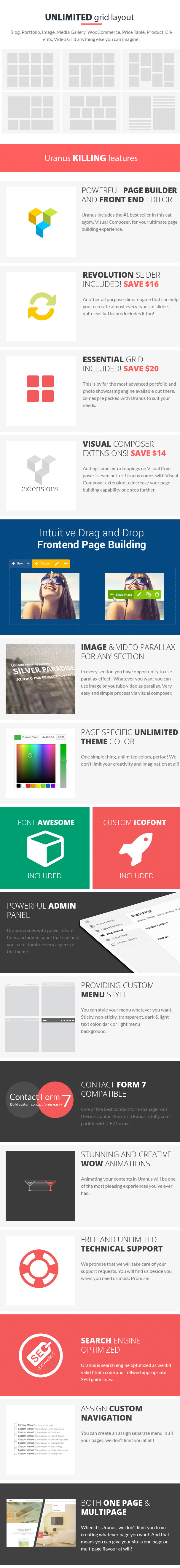 Uranus - Responsive Multi-Purpose WordPress Theme