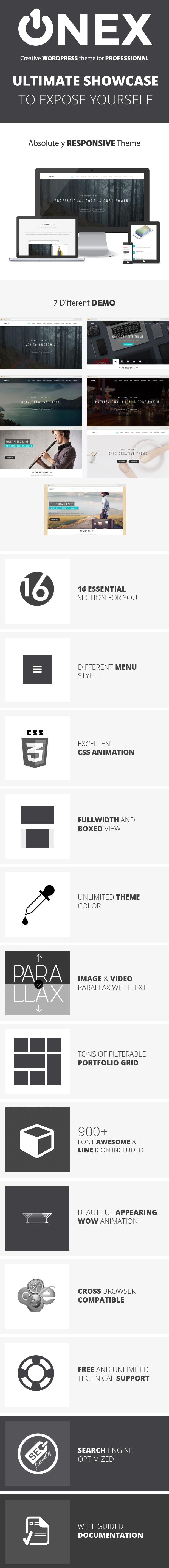 Onex Feature Description by ThemeBucket