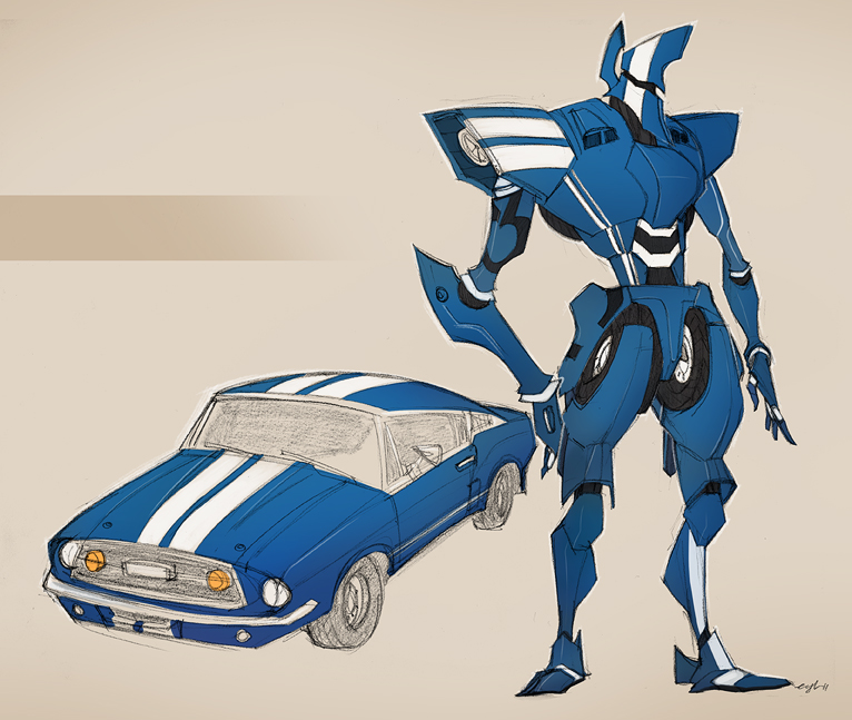classic car robo 01 by Gingashi