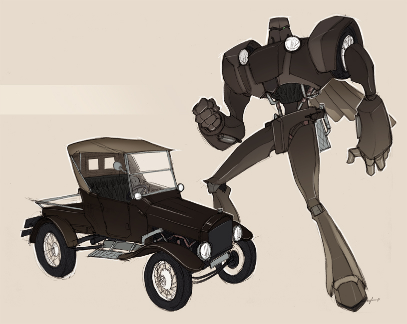 classic car robo 02 by Gingashi