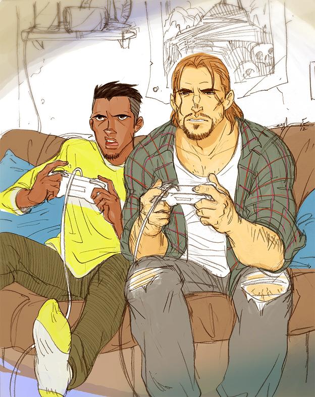 gamer face by Gingashi