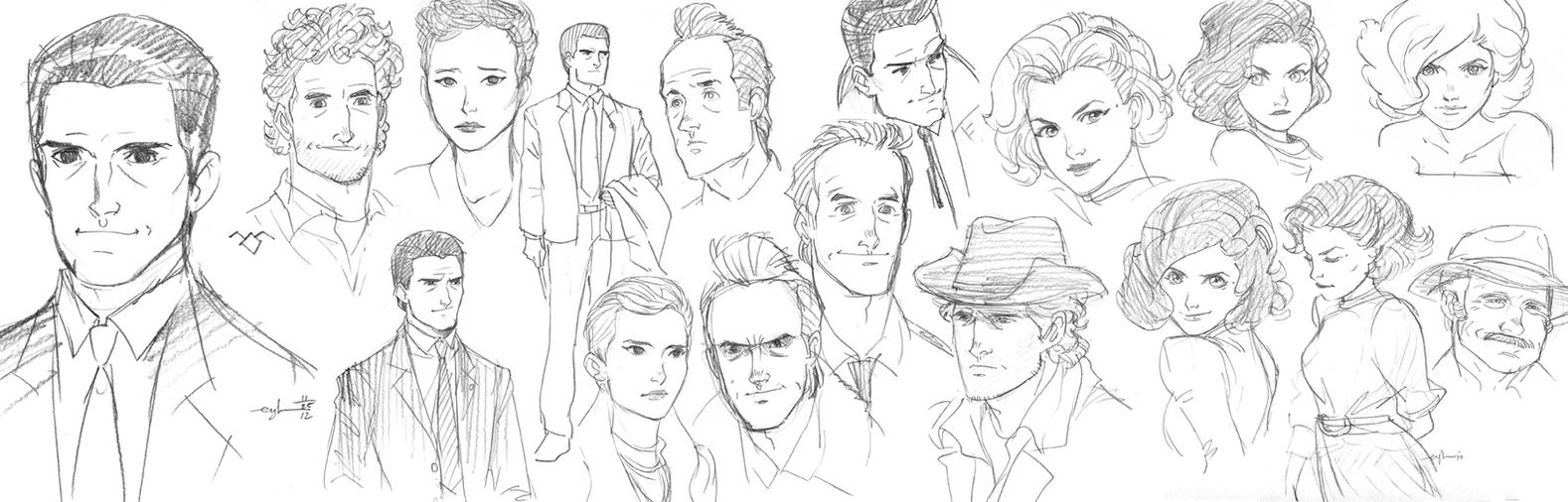 Twin Peaks sketches by Gingashi