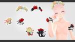 Flowers Crown / Bracelet / Armband DL