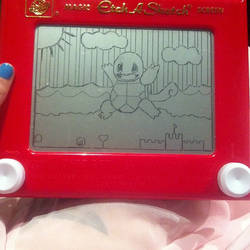 Squirtle Pokemon Etch A Sketch by 2-Star