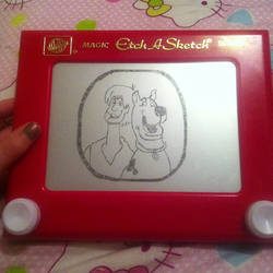 Scooby Doo and Shaggy Etch A Sketch by 2-Star