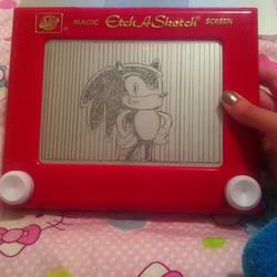Sonic The Hedgehog Etch A Sketch by 2-Star