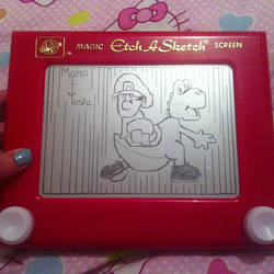 Yoshi and Mario Etch A Sketch by 2-Star