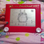 My Neighbour Totoro Etch A Sketch by 2-Star