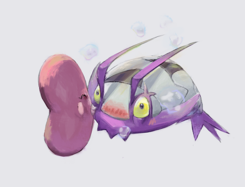 Random Pokemon #10 Wimpod and Luvdisc by LeBovaro
