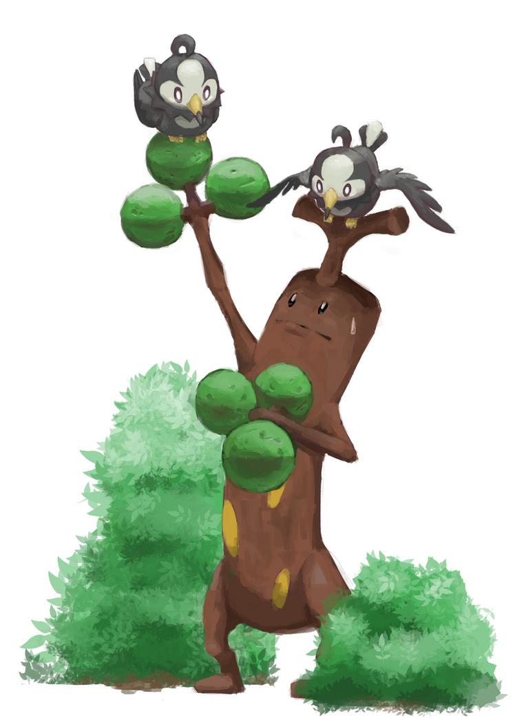 Random Pokemon #11 Sudowoodo and Starlys by LeBovaro