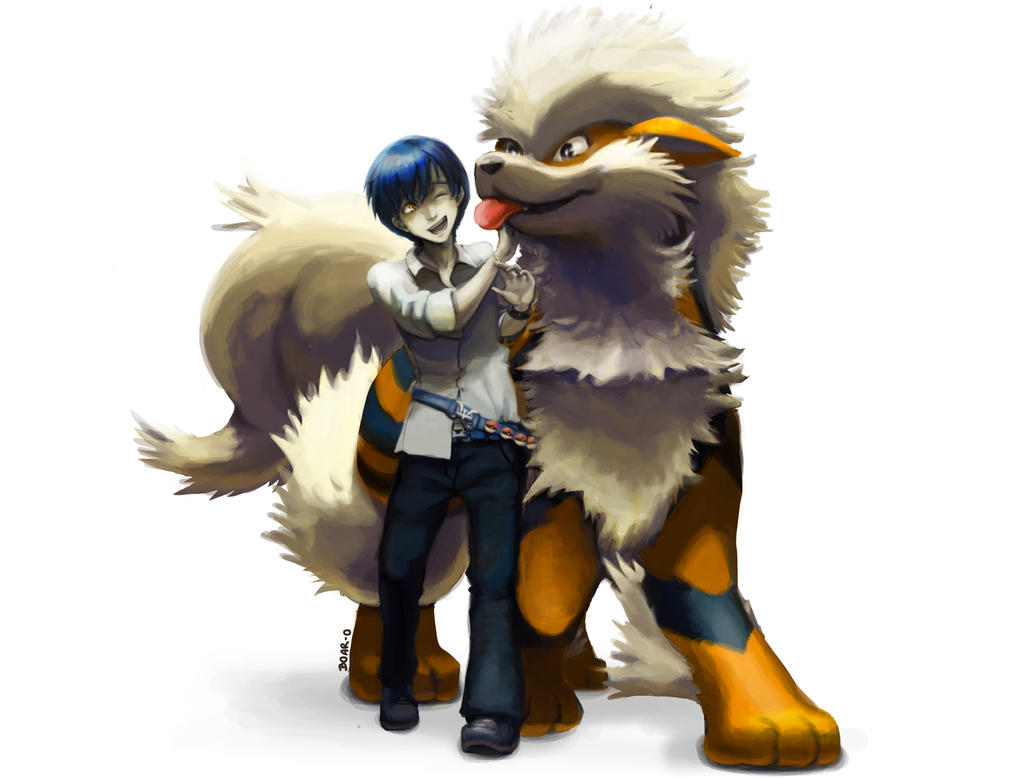 Mahiro and Arcanine by LeBovaro