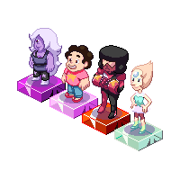 The Crystal Gems... and STEVEN!