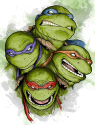 TMNT - Brothers by LRitchieArtworx
