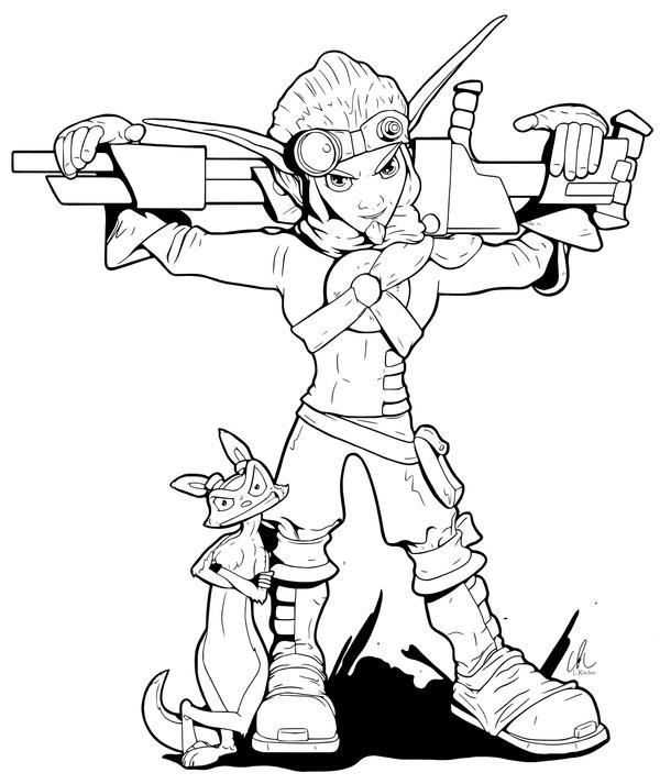 Jak And Daxter Coloring Pages - Best Coloring Page 2017