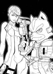 Samus and Star Fox - Starfighters