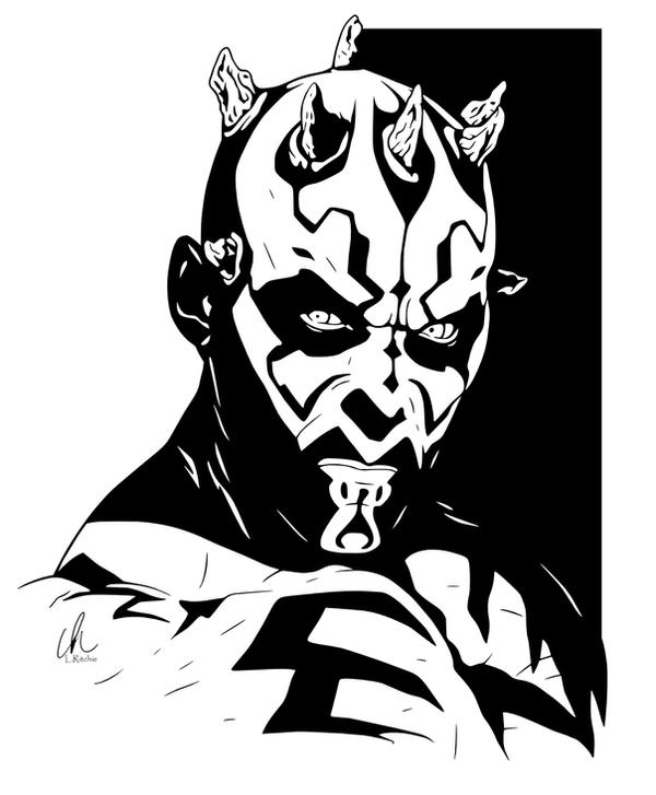 darth maul head stencil