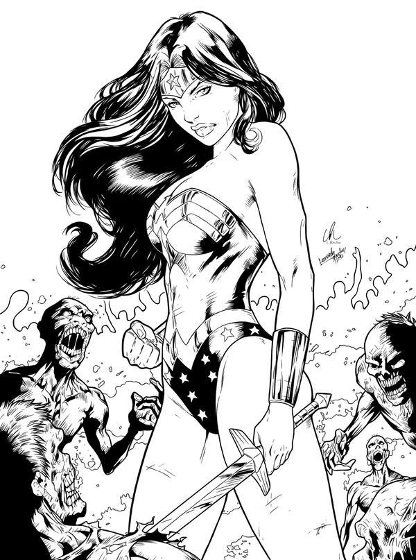 Wonder Woman - Zombie Hunter by LRitchieART