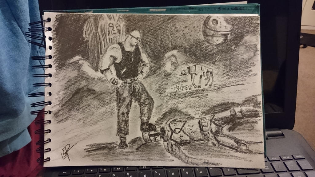 Riddick Vs Jengo Fett by PickeringsPics