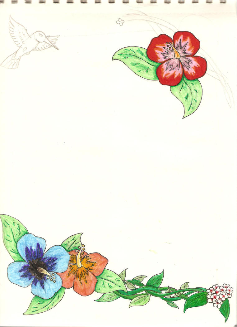 Hibiscus page border free wallpaper hibiscus page border planes trains automobiles wallpaper border b7 ford red mustang green thunderbird all our wall paper borders are new sealed rolls voltagebd Image collections