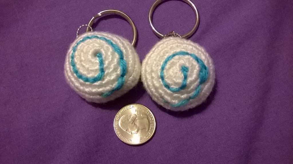 Hearth 'pebble' key rings by shilohmustang