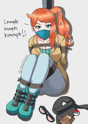 Pokemon Sonia Bondage Fanart. by ryooniisama