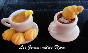 FIMO cappuccino and tea by GourmandisesBijoux