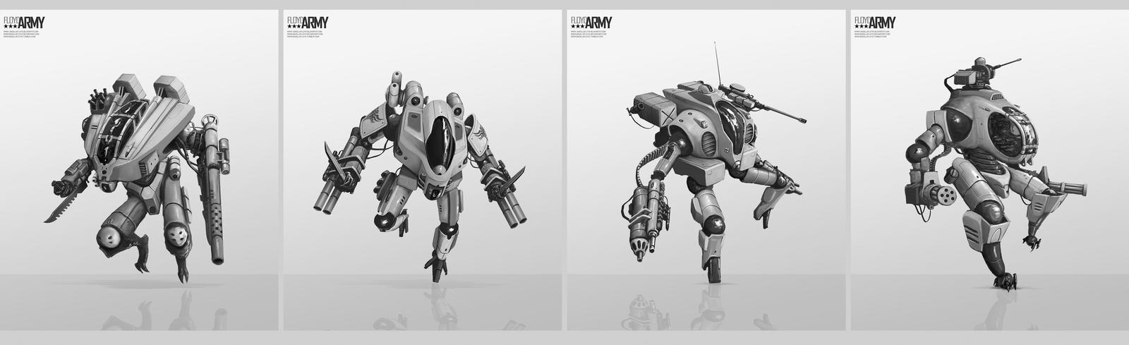 Robots Concepts by badillafloyd