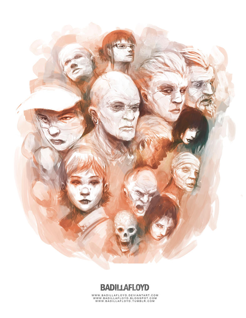 Sketch - faces by badillafloyd