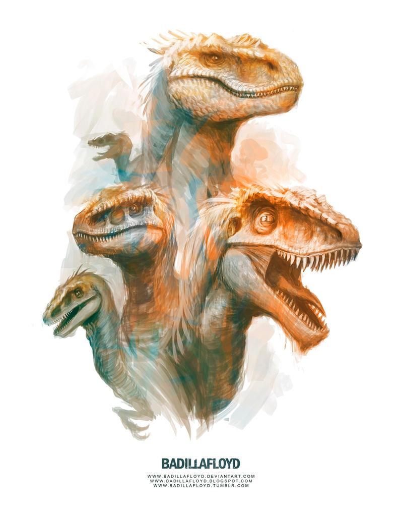 Sketch - raptors by badillafloyd
