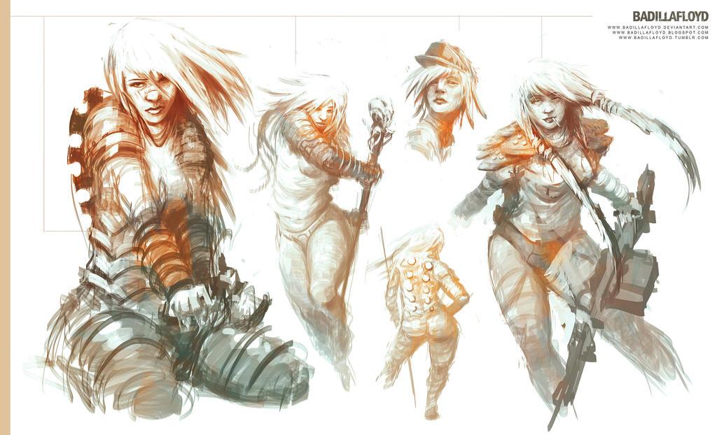 Sketch - warriors by badillafloyd