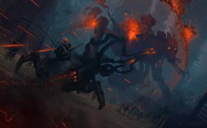 Nubes Finales - Battle concept by badillafloyd