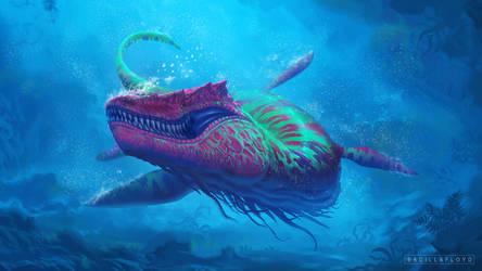 Kronosuchus by badillafloyd