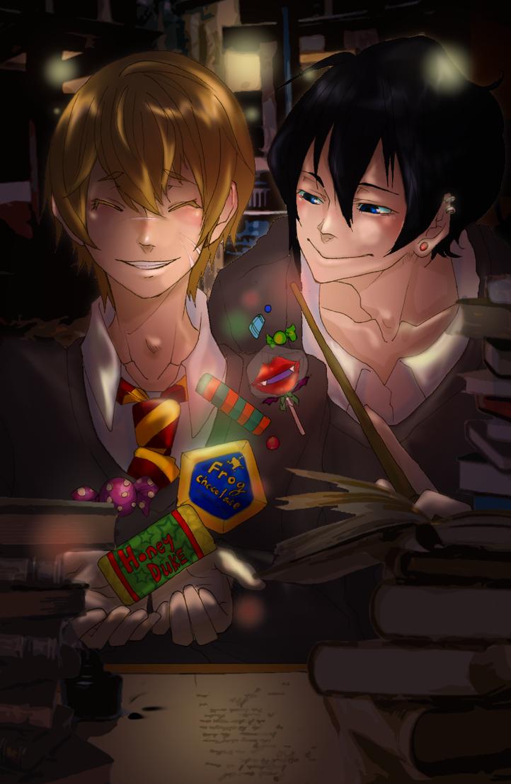Remus and Sirius by KuroLaurant