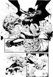 Batman Greg Capullo pencils Farnk Arvizu inks by Colorzoo