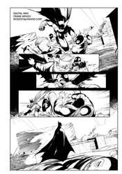 Arkham Knights 14 Digtal Inks by Colorzoo