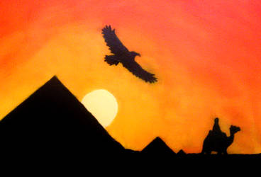 Egyptian Sunset by abaldwin
