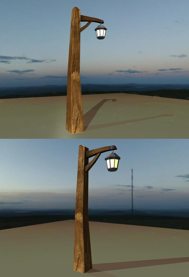 Lovely Wooden Lamp Post By Xelawebdev ...