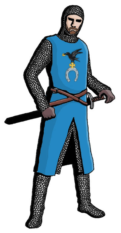 XII century knight concept