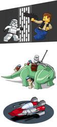 Lego Star Wars showcase by ShVagYeR