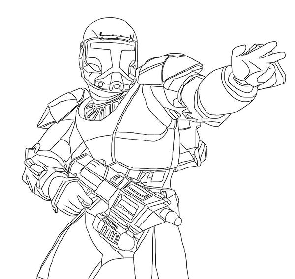 Clone Mando Coloring Pages | Coloring Page