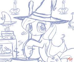 Fluttershy (sketch) by Taco-slayer