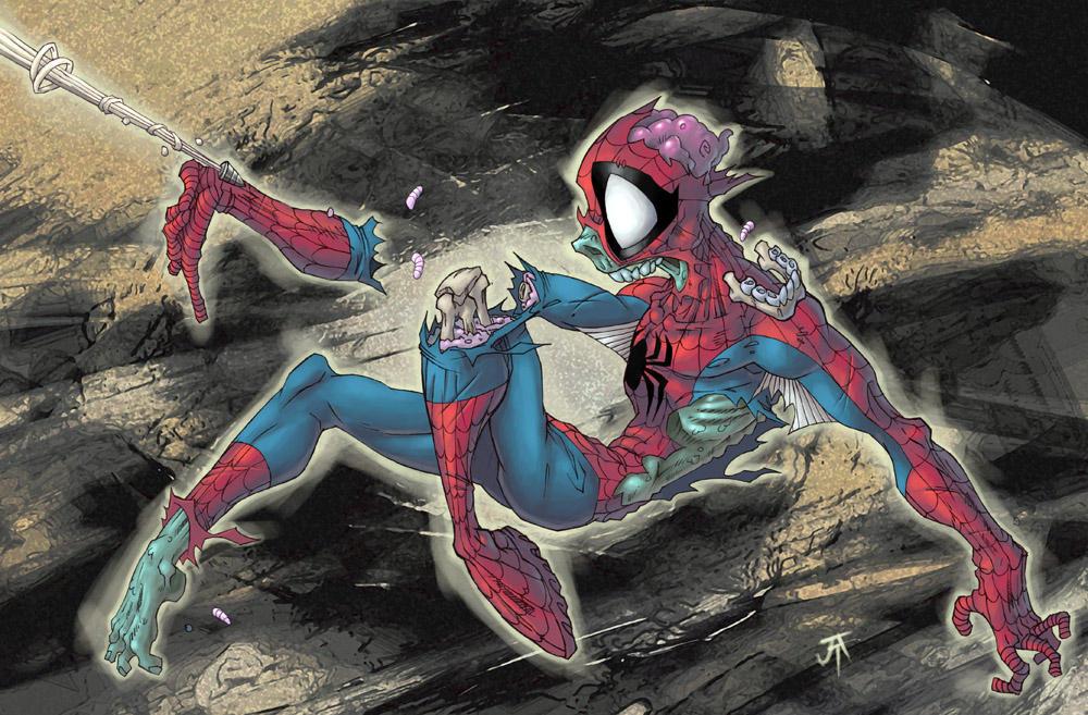 Zombie Spiderman by CyberMonkeytron3000
