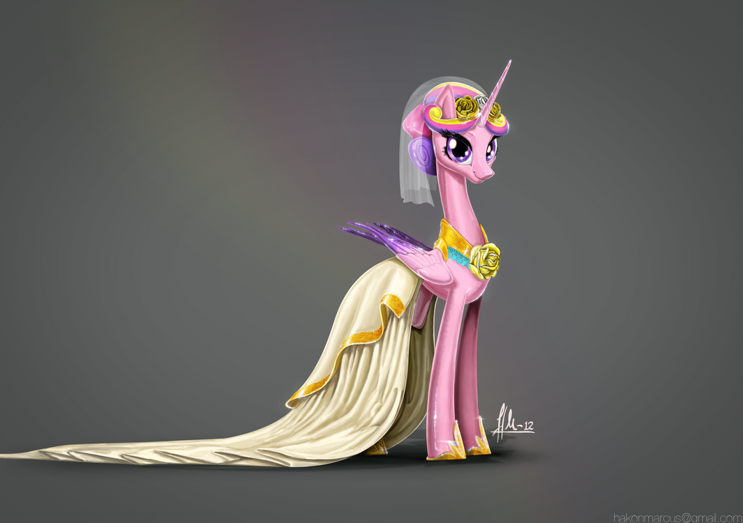 Princess Cadance portrait by hakonmarcus