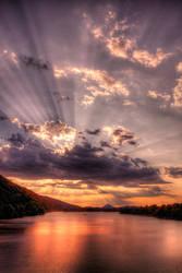 Arkansas river and Pinnacle Mountain HDR by joelht74