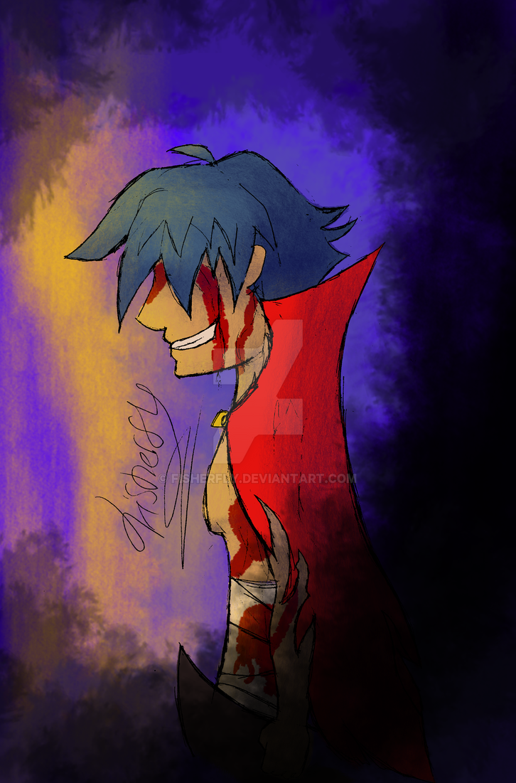 Blooded Kamina by Fisherfly