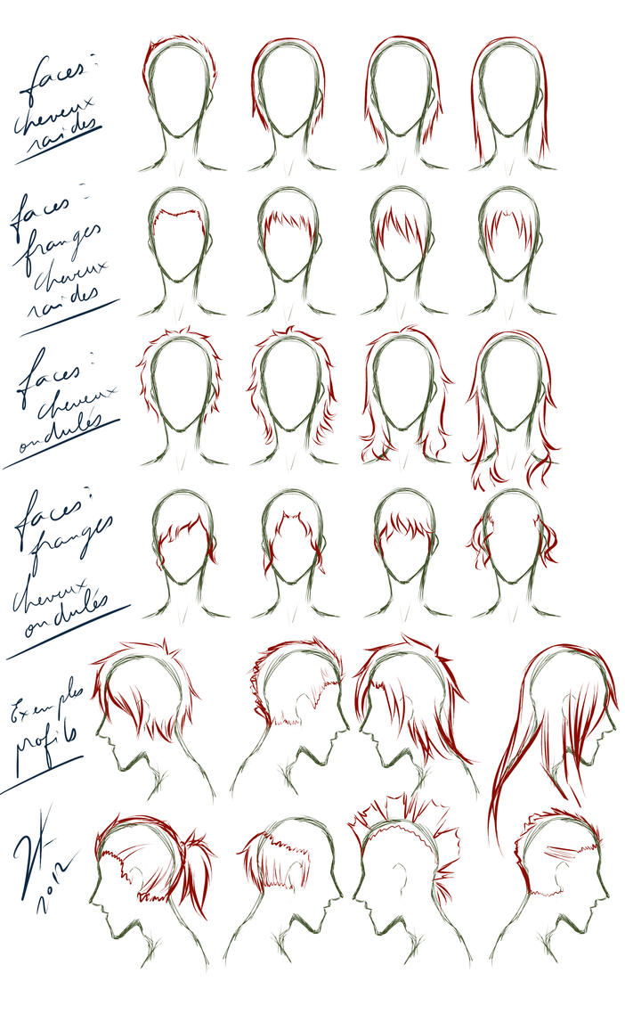Man Hair Tutorial by Kuro2Kazu