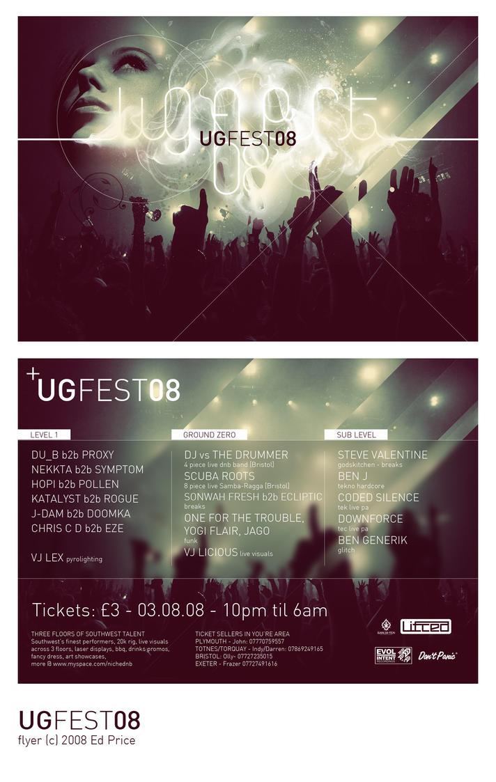 UGFEST 08 Flyer Final by edward-price