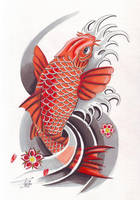 Koi Tattoo by davepinsker